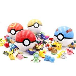 Image 4 - 7 см Pokeballs с Пикачу монстров внутри коллекционные игрушки для детей 21 шт./компл. карман игрушки монстры Пикачу Pokeballs подарки