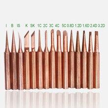 Soldering-Iron-Tip T-Copper 852D Lead-Free 900m 898D SZBFT 15kinds Diamagnetic