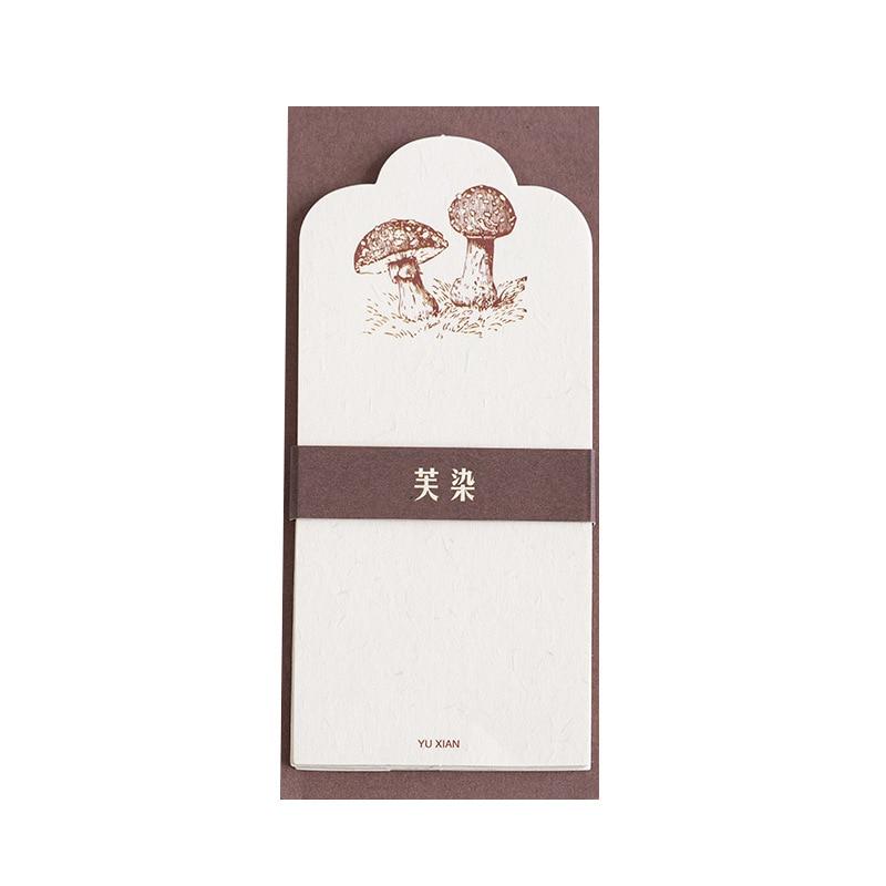 30Pcs Plant Mushroom Animal Paper Memo Pad Transparent Notes Memo Notepad School Office Supply Escolar Papelaria Gift Stationery