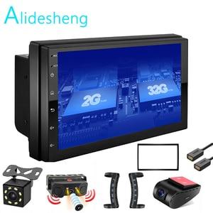 Image 1 - Android GO 2 Din 2G+ROM32G Car radio Multimedia Video Player Universal auto Stereo GPS MAP For Nissan Hyundai Kia toyota rav4