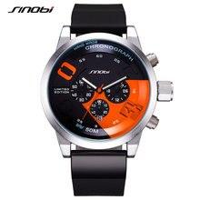 Мужские водонепроницаемые кварцевые часы с хронографом в стиле