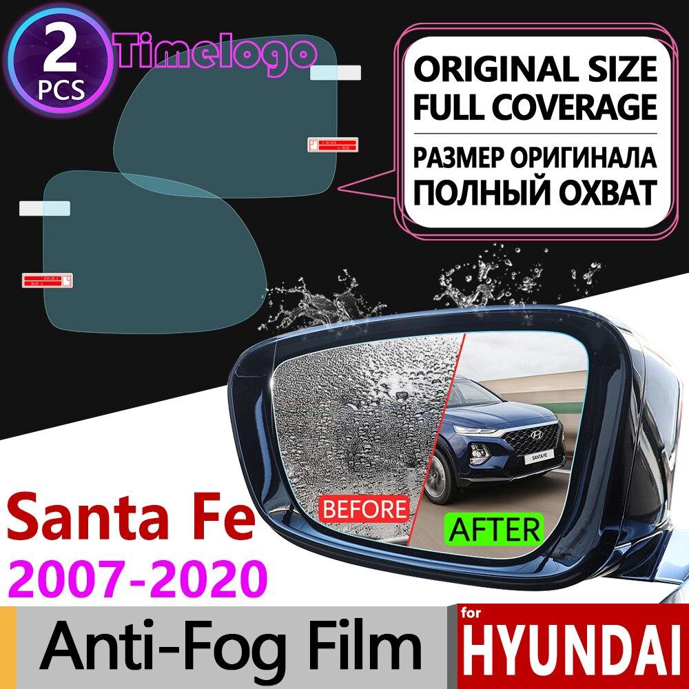 ฝาครอบกันน้ำฟิล์มกระจกมองหลังอุปกรณ์เสริม SantaFe 2010 2015 2017 2018 สำหรับ Hyundai Santa Fe 2007 ~ 2019 ซม. DM TM ix45