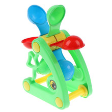 1pcs Cute Windmill Waterwheel Summer Play Sand Water Toys Swimming Pool Bathing Beach Party Child's Play Bath Toy High Quality(China)
