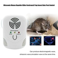 Electronic Ultrasonic Mouse Killer Mouse Cockroach Trap Insect Mosquito Repeller Rats Spiders Practical Pest Control Device|Repellents|   -