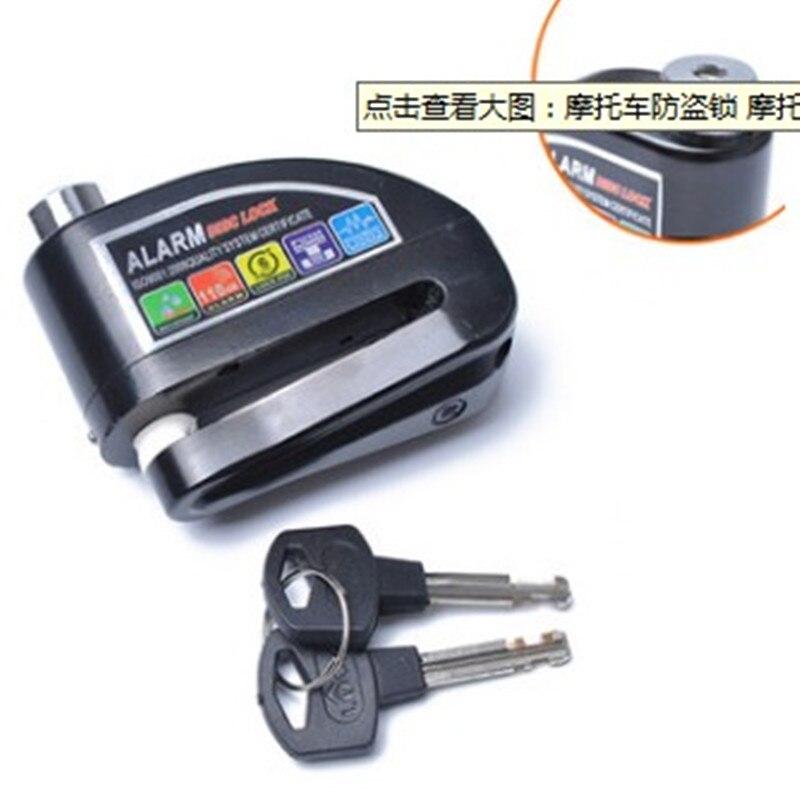 110db Loud Security Waterproof Bicycle Lock Bike Alarm Lock Motorcycle Disc Brake Lock
