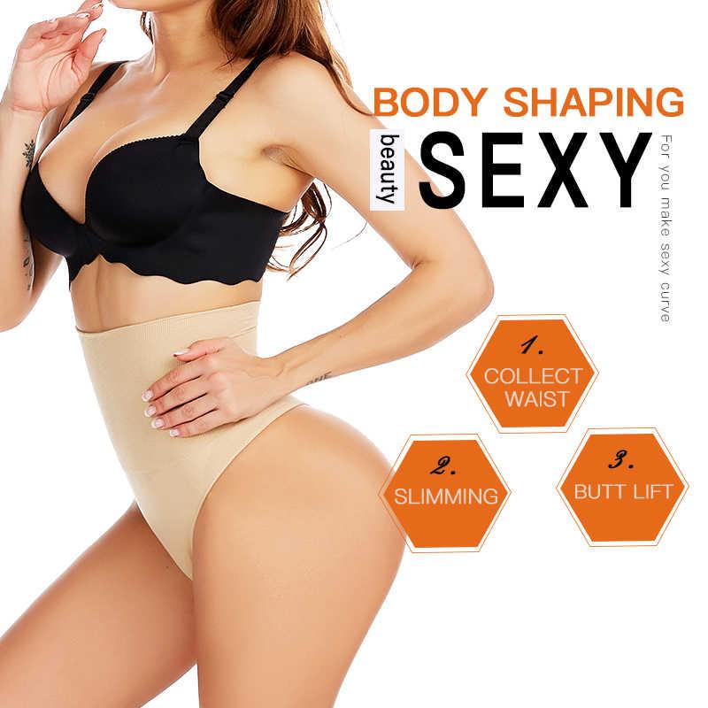A Vita alta Donne Vita Trainer Fajas Body Shaper Che Dimagrisce Shapewear Tummy Boxer Elasticizzati Perizoma G-String Butt Lifter Senza Soluzione di Continuità
