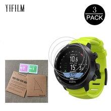 3Pack HD Clear Film For SUUNTO D5 DX D4F D6I D4I Novo Smart watch Anti-shock 7H