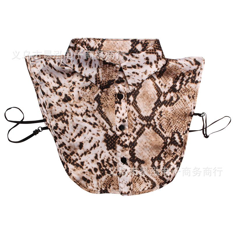 Snakeskin False Collar Underwear All Seasons Short Clothes Underwear Decorative Collar