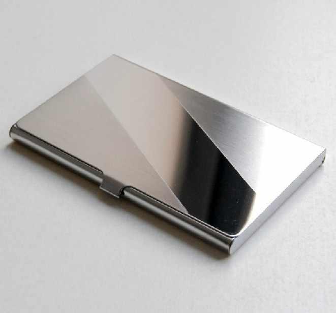 เงินอลูมิเนียมธุรกิจ ID ชื่อผู้ถือบัตรเครดิตกรณีกระเป๋าซิปสำหรับเหรียญผู้ชายกระเป๋าคลัทช์ชายกระเป๋าสตางค์