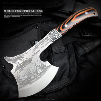Knife Stainless Steel Chopping Meat Bones Survival Axe Camping Hatchet Outdoor Tools Knife Tomahawk Utility With Nylon Sheath high quality sog tactical tomahawk army outdoor hunting camping survival machete axes hand tool fire axe hatchet tomahawk axe d
