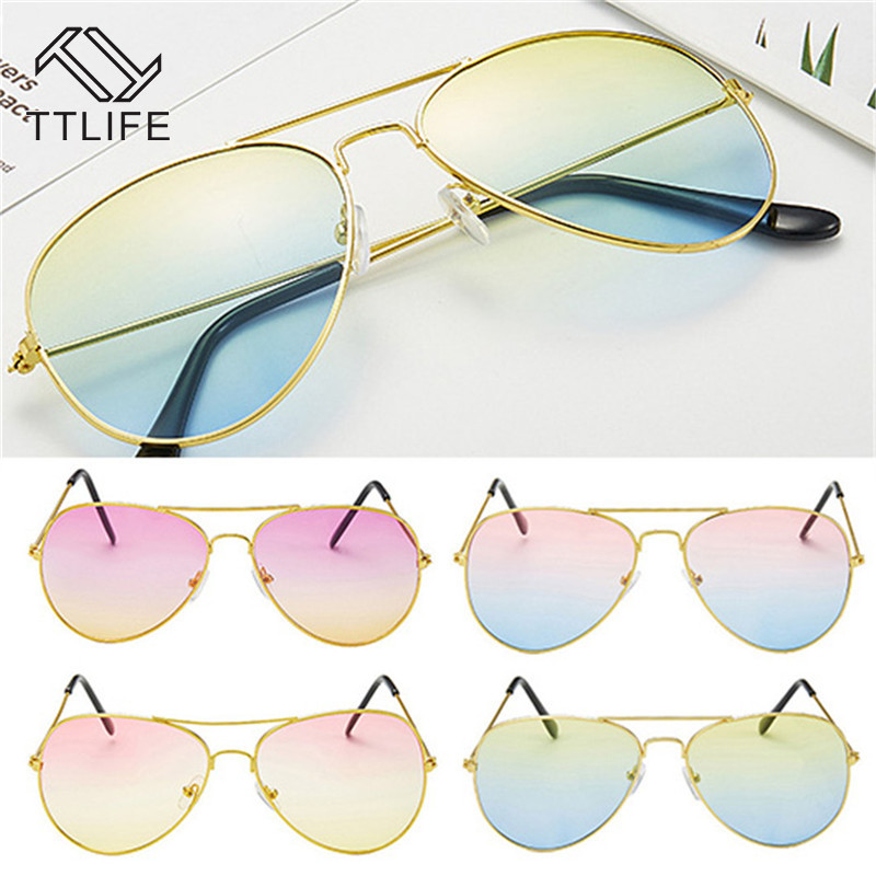TTLIFE 2019 Vintage Pilot Sunglasses Women Men Candy Colors Luxury Sun Glasses For Women Outdoor Driving Gafas De Sol YJHH0249 in Women 39 s Sunglasses from Apparel Accessories