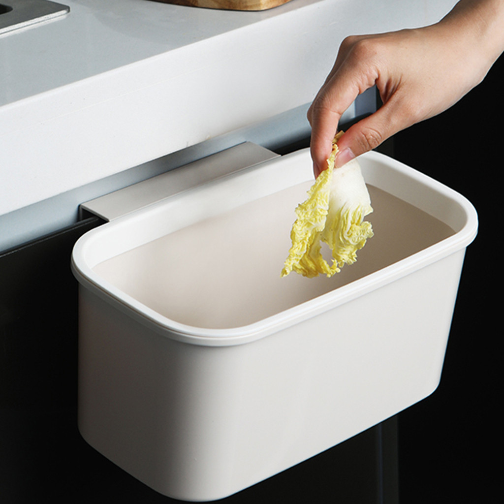 Hanging Trash Can and Wall Mounted Waste Bin Made with PP Material for Kitchen Cabinet Door