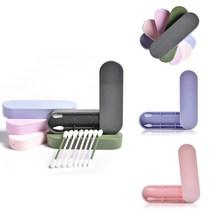 2шт% 2FBox многоразовый хлопок тампон ухо чистка силикон моющийся макияж тампоны палочки мягкий гибкий макияж инструменты комплект дропшиппинг