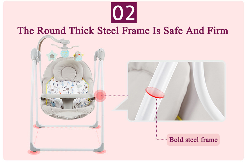 H2aba0af5cf964948b57d6763a9d3c39fi Babyinner Baby Rocking Chair Baby Bassinet Newborn Electric Cradle Foldable Baby Chair Multifunctional Swing Baby Sleeping Bed