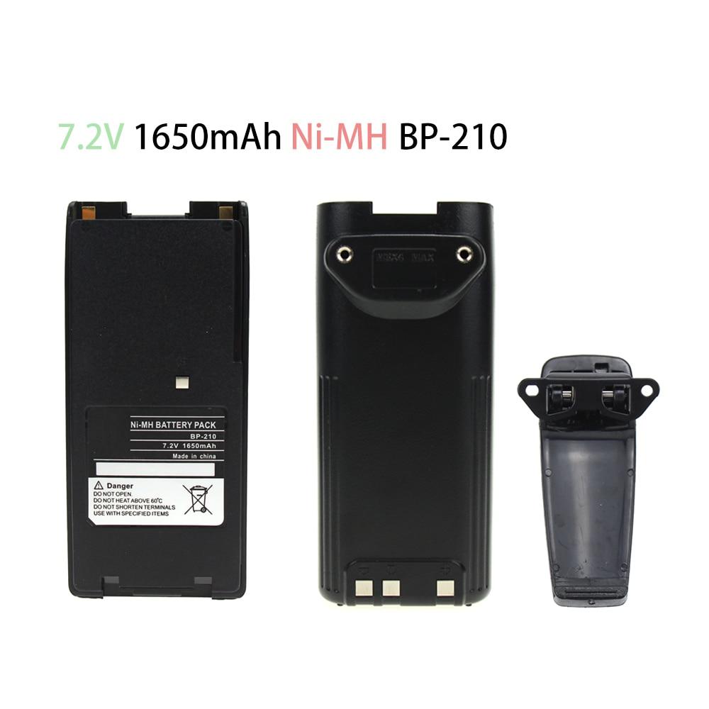 1650mAh Replacement Two-Way Radio Battery BP-209 BP-210 BP-222 BP-209N BP-210N BP-222N For ICOM Radios IC-F11 IC-F21 IC-V8