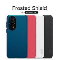 Contraportada para Huawei P50 NILLKIN Frosted Shield PC Estuche rígido Fundas para teléfono Huawei P50 Fundas Etui para Huawei P50 Pro Phone Bumper
