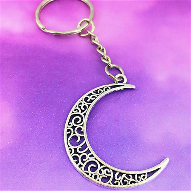 moon accessories resin moon keychain handmade moon keychain witch accessories Moon keychain