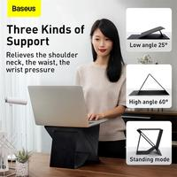 Baseus Folding Laptop Stand Black Computer Holder Ultra High Laptop Holder For MacBook Air Pro Notebook Laptop Stand Portable