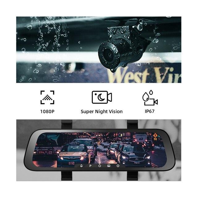 Автомобильный видеорегистратор 70mai, широкий экран 9,35 дюйма, 1080P, угол обзора градусов 2