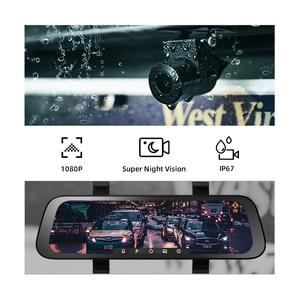 Image 2 - 2020 New 9.35 Inch Full Screen 70mai Rearview Dash Cam Wide 1080P Auto Cam 130FOV 70mai Mirror Car Recorder Stream Media Car DVR