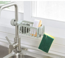 Adjustable Faucet Drainage Shelf Stainless Steel Kitchen Sundries Storage Rack for Bathroom Soap Rag and Sponge organize Holder(China)