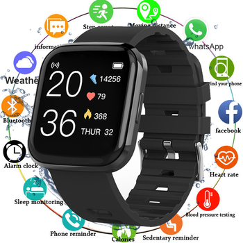 Sport Watch Smart Watch Men Waterproof Blood Pressure Smartwatch Women Fitness Tracker Full Touch Screen Watches For Android IOS color touch screen smartwatch motion detection smart watch sport fitness men women waterproof wearable devices for ios android