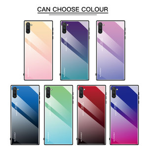 Image 2 - Gradient Tempered Glass Case For Samsung Galaxy A50 A70 Note 10 9 8 S8 S9 S10 Plus S10e A 80 30S 40 20e A51 A71 Phone Case Cover