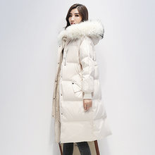 Big Natural Raccoon Fur Collar Hooded 2020 Women Winter Down Jackets And Coats 90% White Duck Down Female Parka Thicken Coat(China)