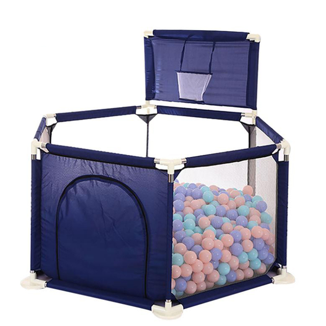 Safety  Baby Fence Kids Playpen Ball Pool Childrens Playpen Oxford Cloth Foldable Pool Children Fence With Balls Pits Fun Toy