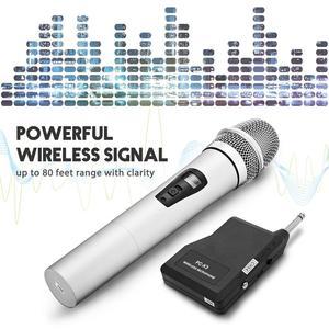 Image 3 - VHF ميكروفون لاسلكي محمول باليد ، سبائك الألومنيوم ، للكاريوكي ، الكمبيوتر ، الغناء ، KTV مع جهاز الاستقبال