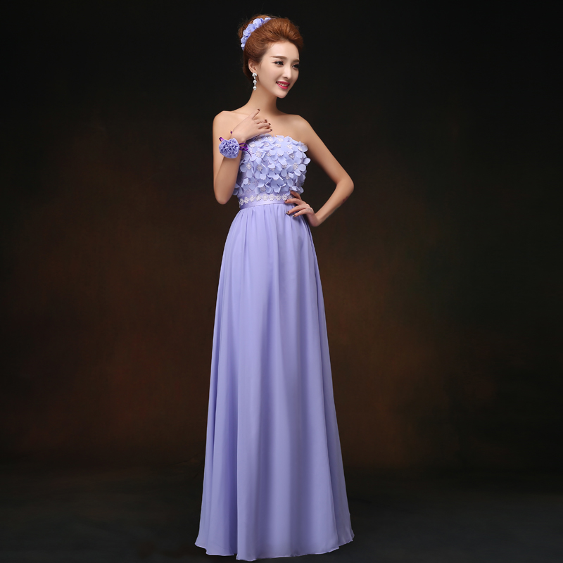 Violet Bridesmaids Dress Chiffon Elegant Dress Women For Wedding Party Sweetheart Sexy Sister Prom Simple Vestido De Festa Longo