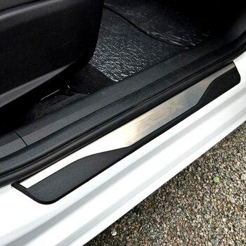 De alta calidad de acero inoxidable placa de desgaste travesaño de umbral de puerta para accesorios Mitsubishi ASX 2011, 2012, 2013, 2014, 2015, 2016, 2017, 2018