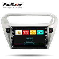 Funrover IPS Android 9.0 Car DVD Player GPS Navigation Multimedia Radio For Peugeot 301 Citroen Elysee Radio 2013 2016 2 Din Dsp
