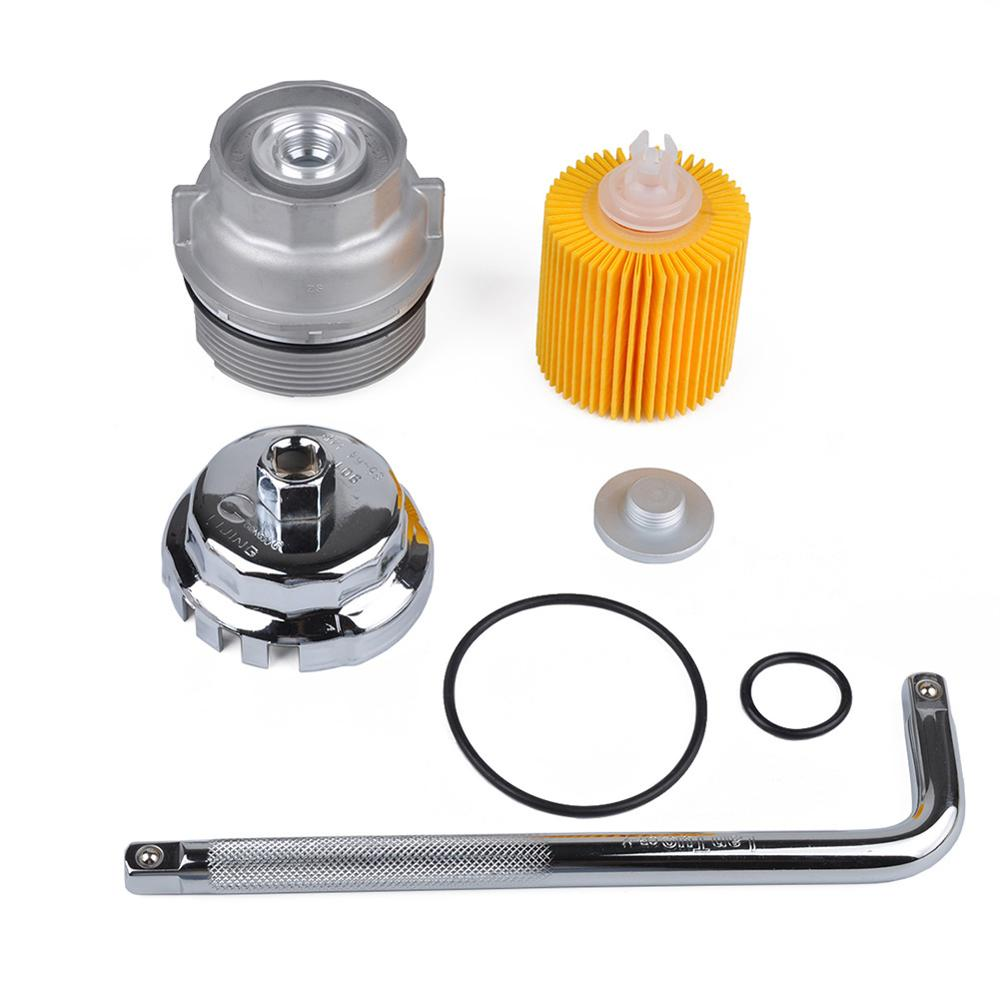 Car Repair Kit Oil Filter Housing Cap Oil Filter Wrench Oil Filter Disassembly Maintenance Tool Set Compatible For Toyota Lexus