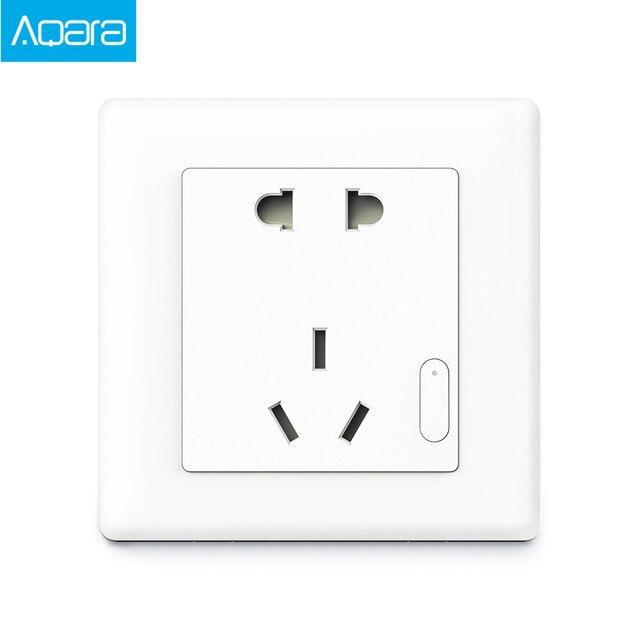 Aqara Smart Steckdose ZigBee Drahtlose Wand Outlet Mijia Steckdose Schalter Arbeit Für Mijia Smart Home Mihome APP 3