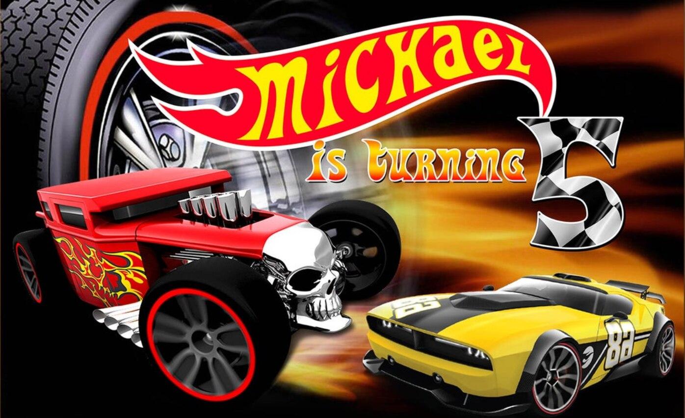 Fondo de fotografía de coche de carreras de bandera para niños Baby Shower Hot Wheel fondos de fiesta para foto de estudio