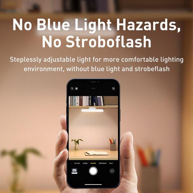 Baseus USB Light Magnetic Table Lamp Hanging Wireless Touch LED Desk Lamp Stepless Dimming Study Reading Lamp USB Night Lighting