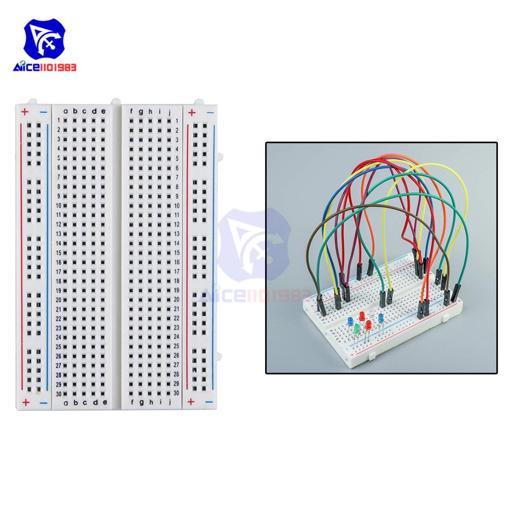 Diymore MB-102 400 Tie Points Solderless Breadboard For Arduino Prototype PCB Board Kit