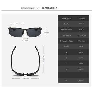Image 4 - Aoron condução polarizada óculos de sol quadro de alumínio esportes óculos de sol homem motorista retro óculos uv400 anti reflexo