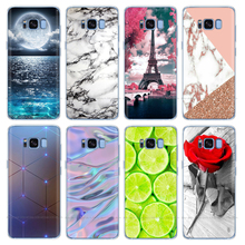 Silicone case For Samsung Galaxy S8 case G950 g950f Back Cover for samsung s8 plus s8+