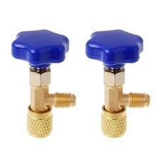 2 шт Для r134a a/c can tap 1/2 дюйма конический Дозирующий клапан