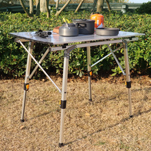 Folding Table Aluminium-Alloy Outdoor Camping for 90--53cm Waterproof