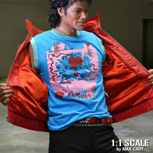 Michael Jackson BEAT IT Video Accurate AMOUR T-shirt, Thriller, Sleeveless Tops Tees Men 100% Cotton