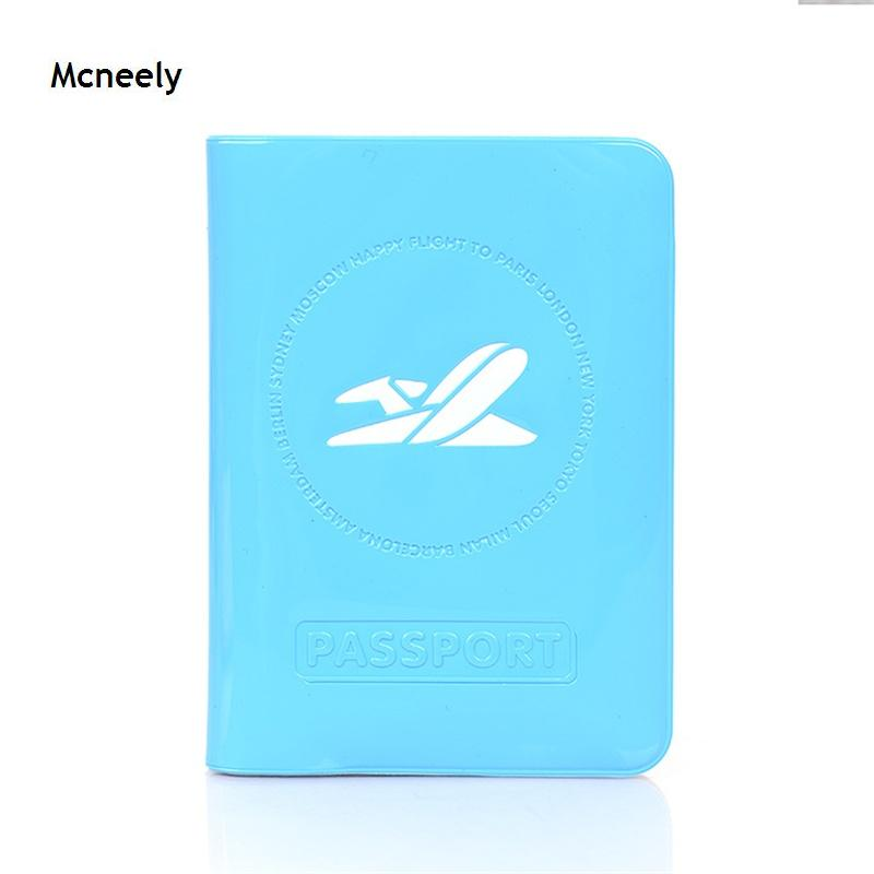 New Colorful 3D Design PVC Passport Holder For Men,  PVC Leather Travel Passport Wallet  Passport Cover With Plane Logo