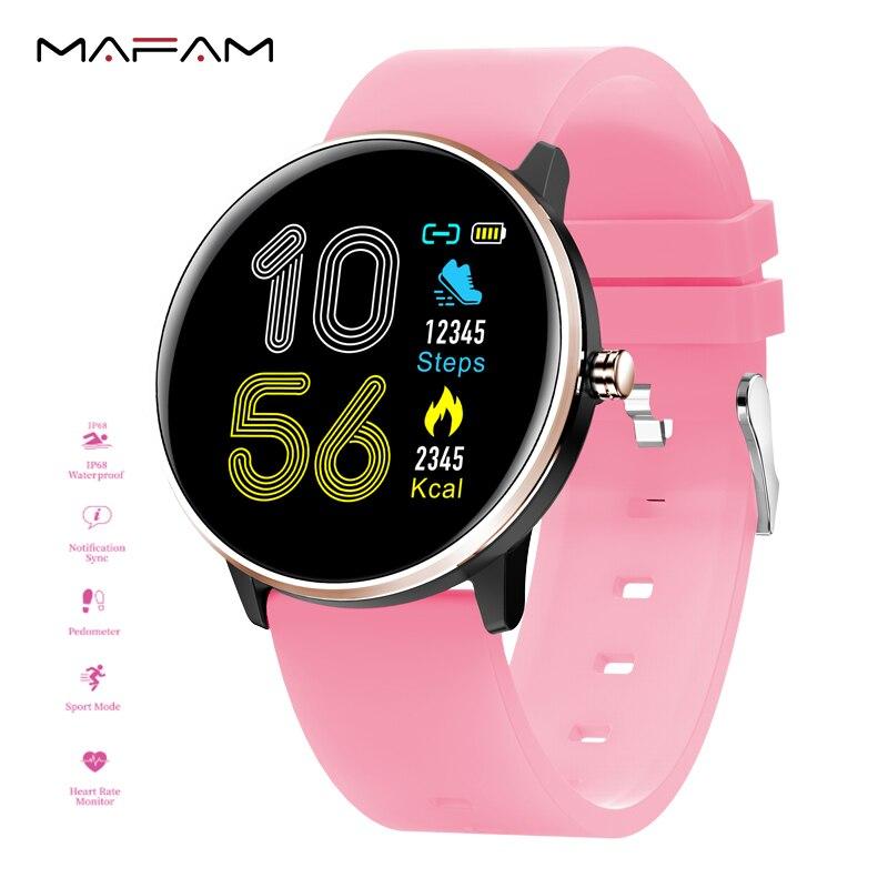 MAFAM MX6 IP68 Relógio Inteligente Monitor de Pressão Arterial e Freqüência Cardíaca Das Mulheres Dos Homens À Prova D' Água relógio Do Esporte de Multi-línguas Relógio Smartwatch