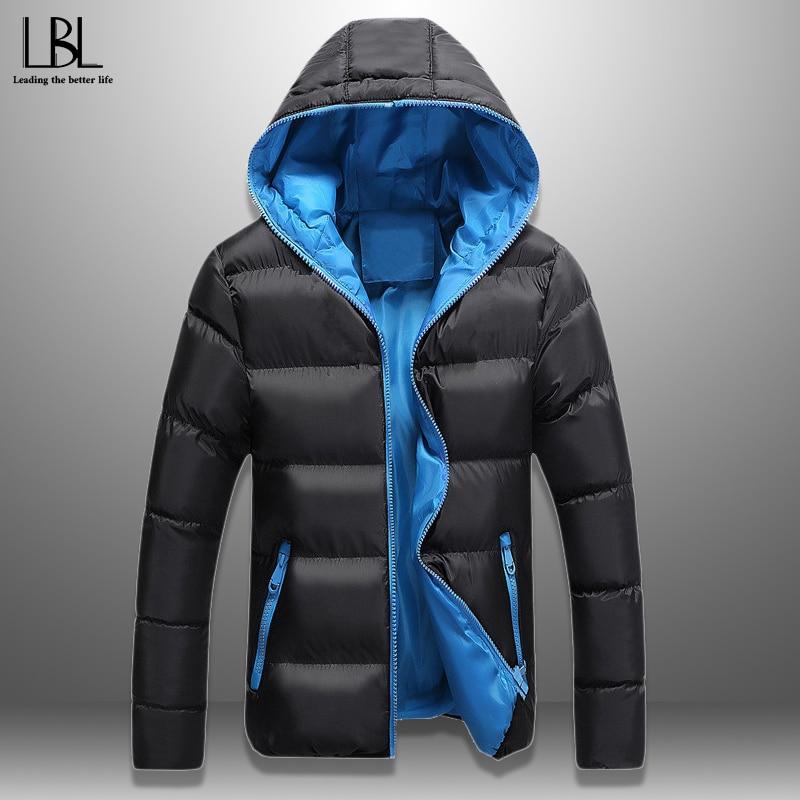 LBL Slim Bomber Jacket Men Autumn Thicken Mens Coat Warm Outwear Windproof Hooded Overcoat Zipper Parkas Jackets Man Hoody Male