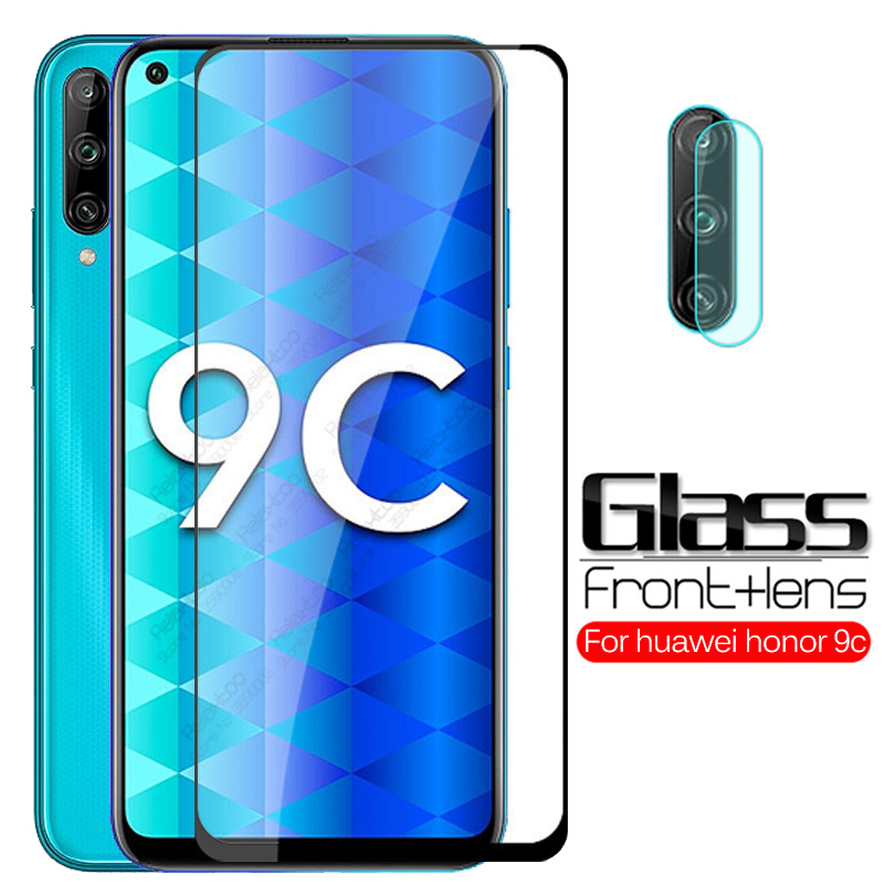 2 in 1 camera lens tempered <font><b>glass</b></font> on <font><b>honor</b></font> 9c screen protector for huawei <font><b>honor</b></font> 9c honer <font><b>9</b></font> c c9 honor9c <font><b>protective</b></font> film <font><b>3D</b></font> Cover image