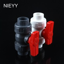 25mm PVC Ball Valve Shut Off Water Tool Caps Gate Garden Connectors For Irrigation