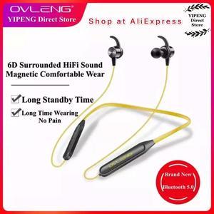 Image 2 - Ovleng S18 Draadloze Bluetooth Koptelefoon Sport Nekband Magnetische Oordopjes Microfoon Handsfree Stereo Bass Waterdichte Oortelefoon