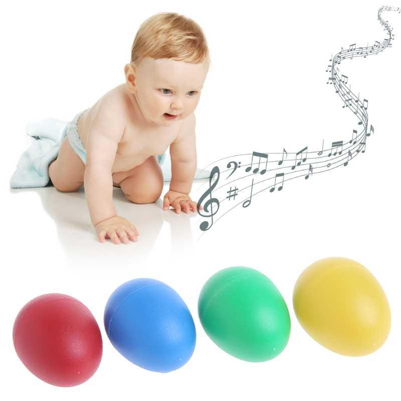 1Pc Plastik Perkusi Musik Telur Marakas Shakers Anak Mainan Hadiah Yang Menyenangkan